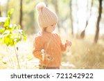 cute toddler girl  wearing...   Shutterstock . vector #721242922