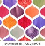 damask moroccan pattern vector | Shutterstock .eps vector #721245976