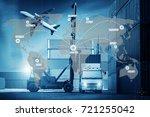 best global connection of... | Shutterstock . vector #721255042