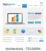 business website template with... | Shutterstock .eps vector #72126004