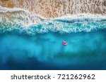 aerial view of slim woman... | Shutterstock . vector #721262962