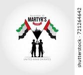 uae martyr's day. vector...   Shutterstock .eps vector #721264642