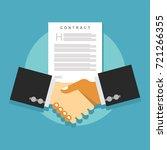 contract agreement handshake.... | Shutterstock .eps vector #721266355