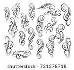 set design elements. vector... | Shutterstock .eps vector #721278718