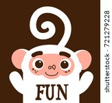 funny white cheerful happy... | Shutterstock . vector #721279228