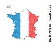 france map hand drawn sketch.... | Shutterstock .eps vector #721282738