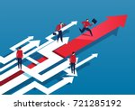 the businessmen who are lost | Shutterstock .eps vector #721285192