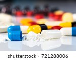 antibiotics contain blue pills  ... | Shutterstock . vector #721288006