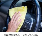 hand cleaning interior car... | Shutterstock . vector #721297036