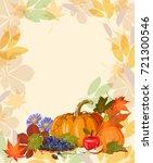 happy thanksgiving day vector... | Shutterstock .eps vector #721300546
