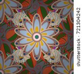 beautiful watercolor bouquet of ... | Shutterstock .eps vector #721304242