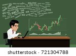 stock trader is using so many... | Shutterstock .eps vector #721304788