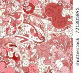 tracery seamless pattern.... | Shutterstock .eps vector #721305892