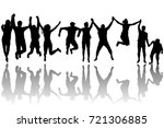 men and women silhouettes... | Shutterstock .eps vector #721306885