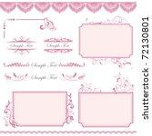 pink frame set | Shutterstock .eps vector #72130801
