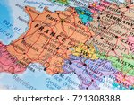 map of france in the atlas   Shutterstock . vector #721308388