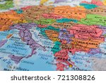 map of europe | Shutterstock . vector #721308826