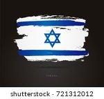 flag of israel. vector...   Shutterstock .eps vector #721312012
