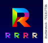 letter r logotype design set...