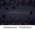 black happy new year postcard.... | Shutterstock .eps vector #721321612