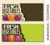 vector banners for fresh... | Shutterstock .eps vector #721324426