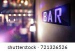 bar led signage   3d rendering | Shutterstock . vector #721326526