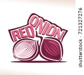 vector logo for fresh red onion ... | Shutterstock .eps vector #721327276