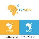 vector africa and plane logo... | Shutterstock .eps vector #721328482