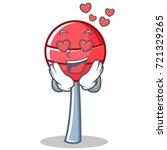 in love sweet lollipop... | Shutterstock .eps vector #721329265