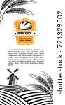 vector image of bread  mill ...   Shutterstock .eps vector #721329502
