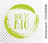 100  bio label vector  painted... | Shutterstock .eps vector #721330348