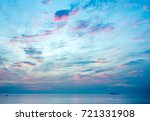 twilight cloudy sky at sand... | Shutterstock . vector #721331908