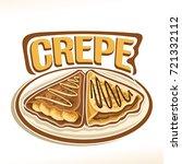 vector logo for french crepe...   Shutterstock .eps vector #721332112