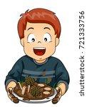illustration of a kid boy...   Shutterstock .eps vector #721333756