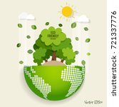 eco friendly. ecology concept... | Shutterstock .eps vector #721337776