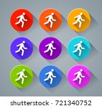 illustration of run icons with... | Shutterstock .eps vector #721340752