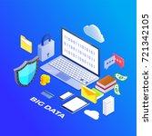 big data  machine algorithms...   Shutterstock .eps vector #721342105