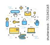 fin tech  financial technology  ...   Shutterstock .eps vector #721342165