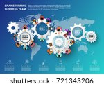 concept for business teamwork... | Shutterstock .eps vector #721343206