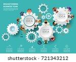 concept for business teamwork... | Shutterstock .eps vector #721343212