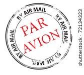The Par Avion Grunge Stamp...