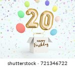 happy birthday 20 years... | Shutterstock . vector #721346722