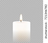 candle light or tea light flame ... | Shutterstock .eps vector #721346782