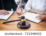 male lawyer or judge consult... | Shutterstock . vector #721348432