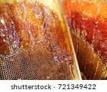 background hexagon texture  wax ... | Shutterstock . vector #721349422