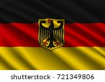 waving flag of germany on silk... | Shutterstock .eps vector #721349806