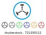 triple judicial gavel rounded...   Shutterstock .eps vector #721350112