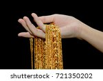 gold neck lace  gold jewelry in ... | Shutterstock . vector #721350202