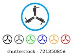 pointing men rounded icon.... | Shutterstock .eps vector #721350856