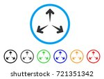 expand arrows rounded icon.... | Shutterstock .eps vector #721351342